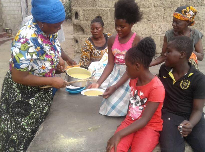 Serving CSB porridge